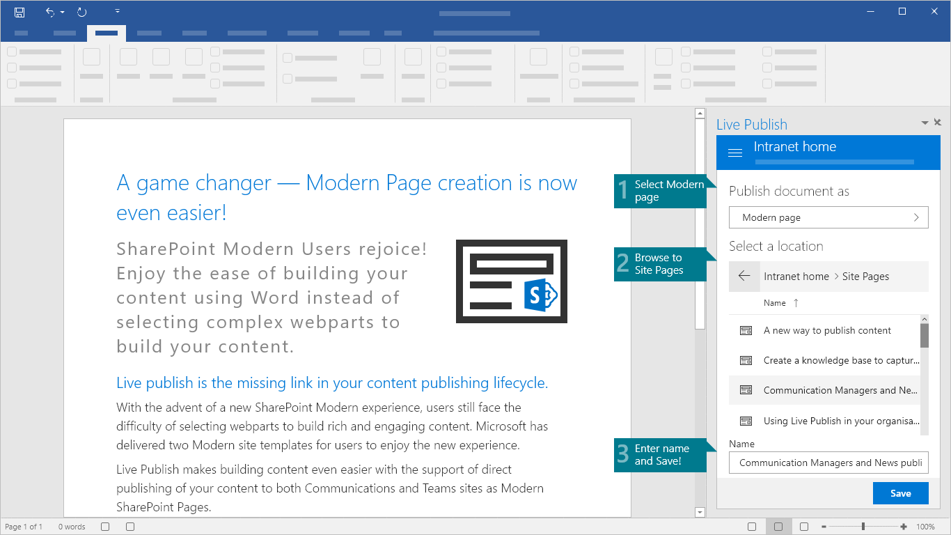 Modern Page