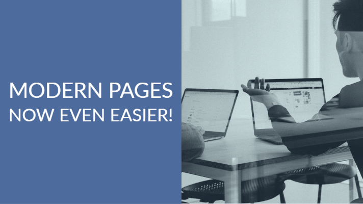 Modern Pages | Now even easier!