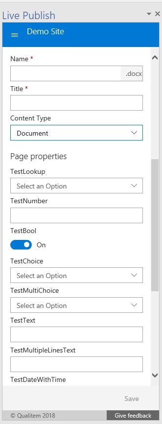 Metadata Panel screen shot