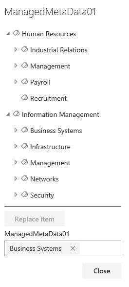 Managed Metadata Branches